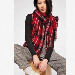 Free People Emerson Plaid Scarf NWT